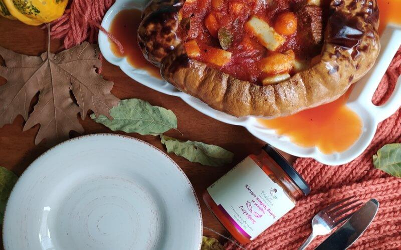 κολοκύθα-μοσχάρι-άλειμμα-πιπεριάς-μελιτζάνα